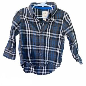 Peek Boys 'Logan' Plaid Woven Shirt 18-24M